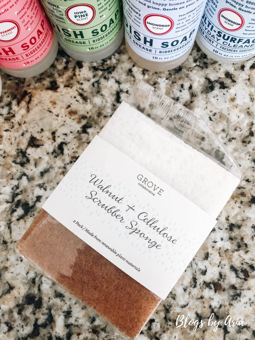 Grove Collaborative favorite walnut scrubber sponges