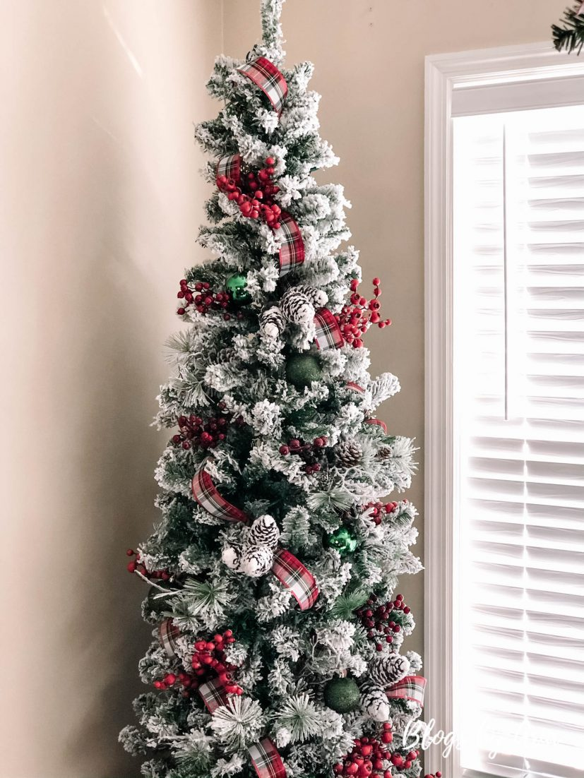 Christmas tree in dining room