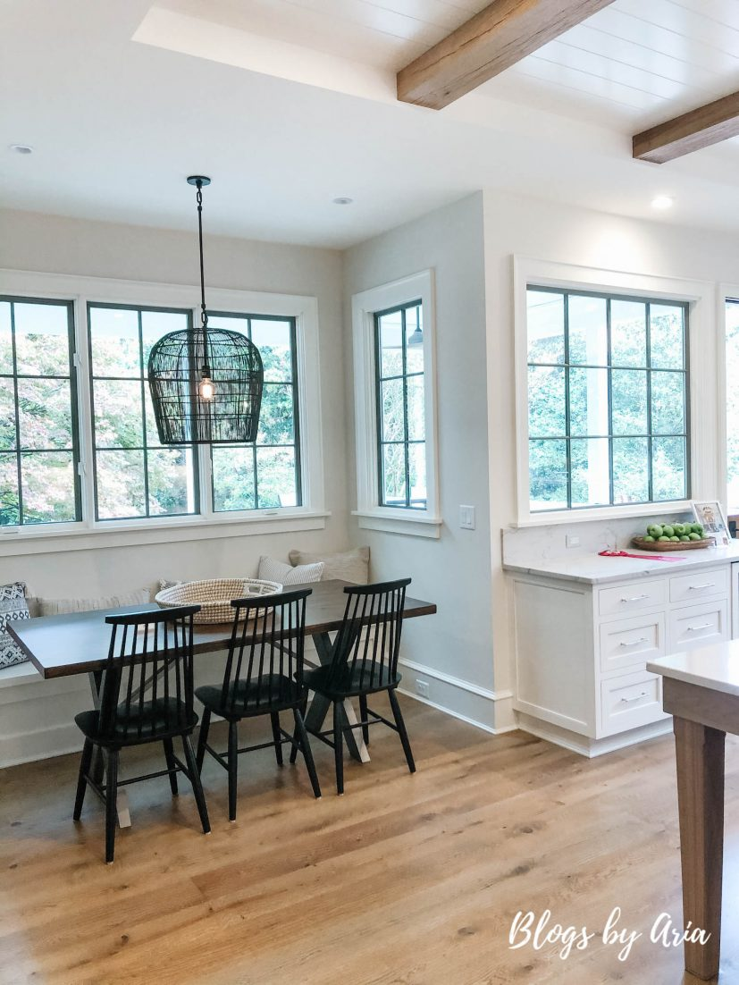 bright and airy eat in breakfast nook