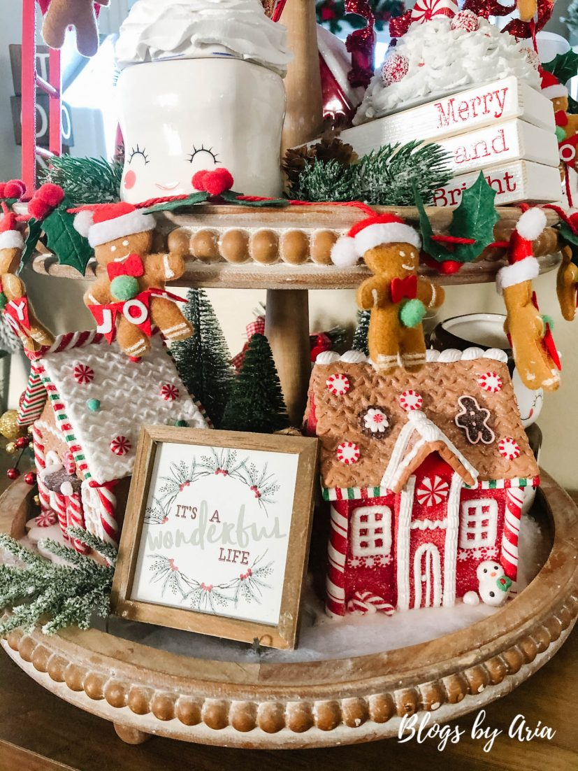 Christmas three tiered tray styling