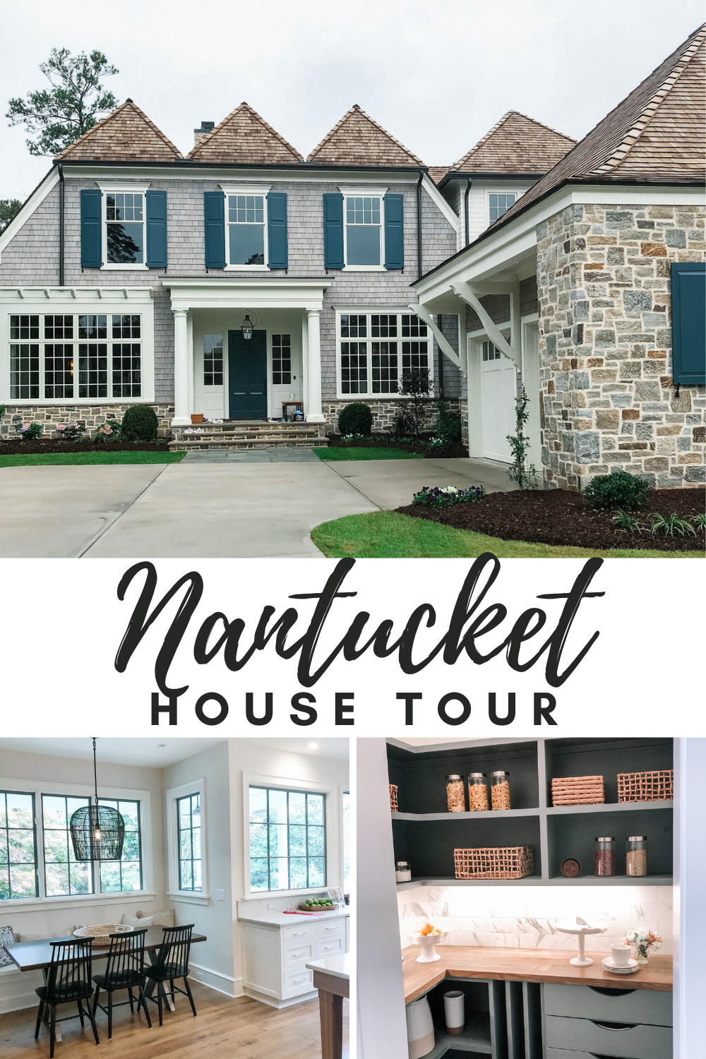Nantucket Inspired Exterior House Tour in the heart of Raleigh