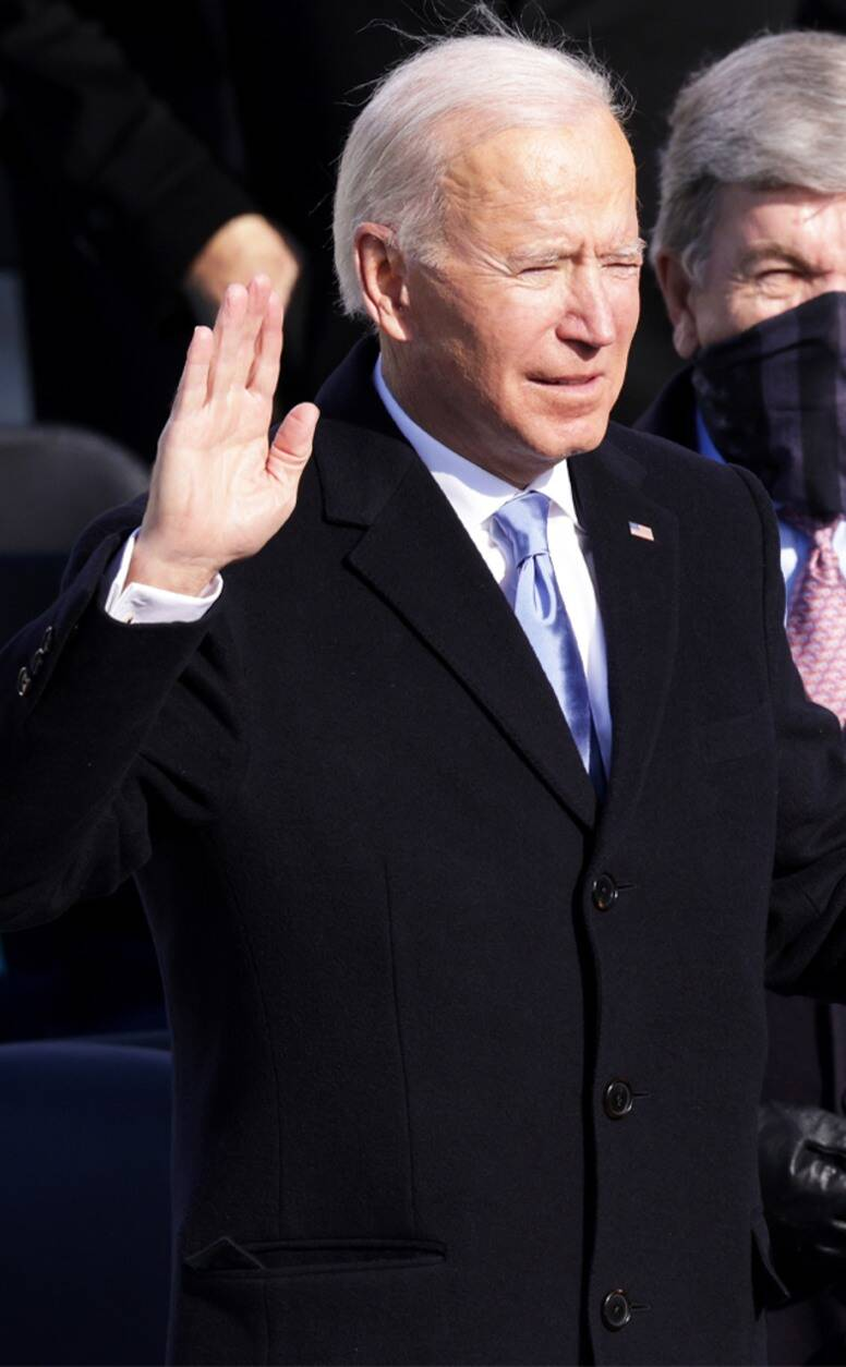 President Joe Biden being sworn in as the 46th President of the United States