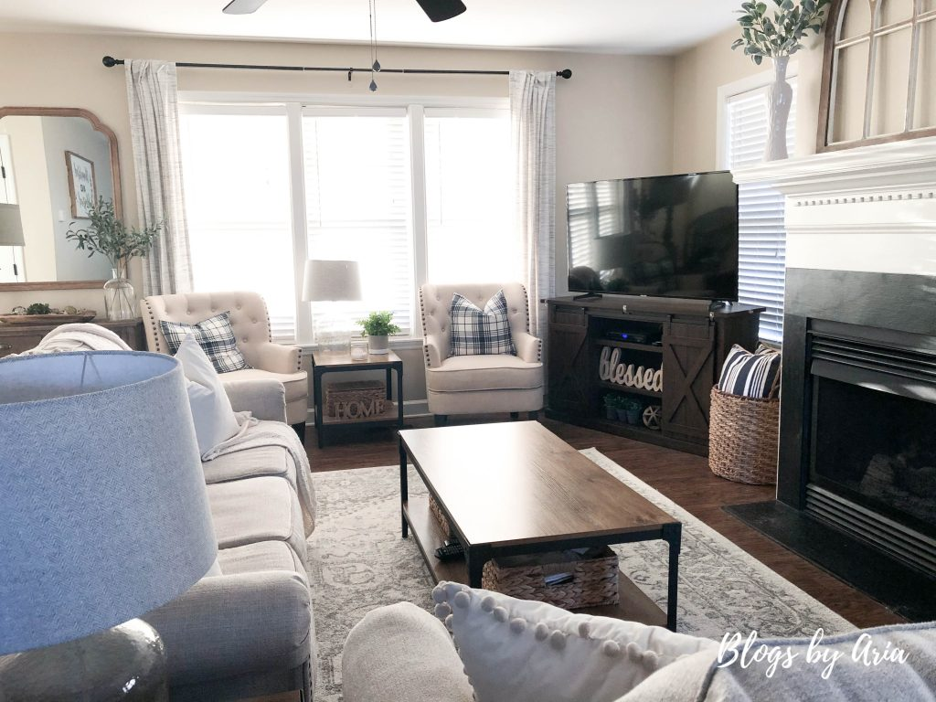 how to update a living room on a budget